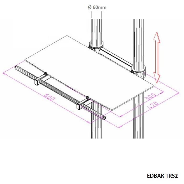 441727b7a Kompletní specifikace. Televizní stojan EDBAK TR1-PWB