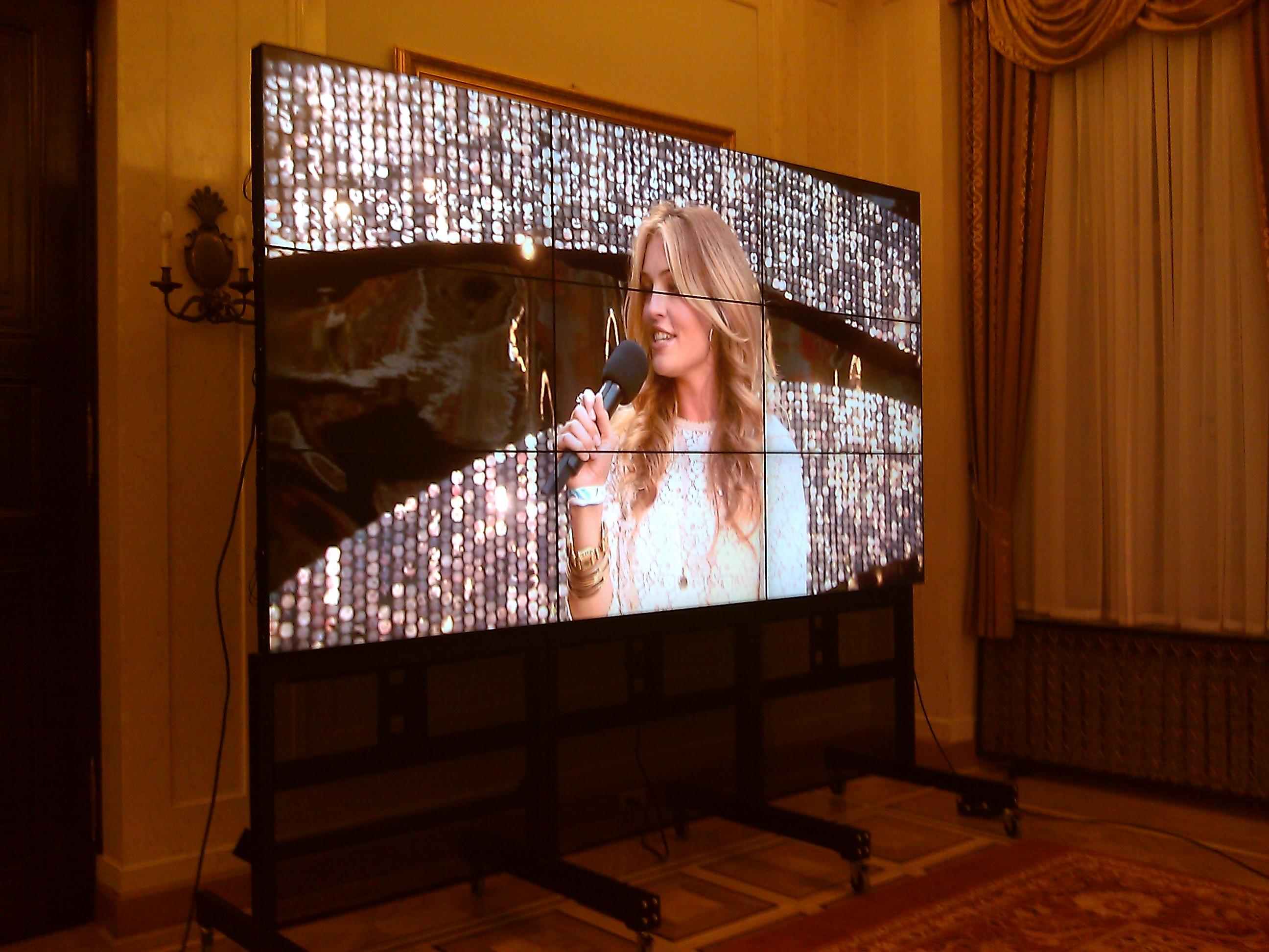 televizvní stěna 3x3 tv